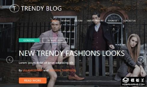 时尚视频日志响应式网页模板
