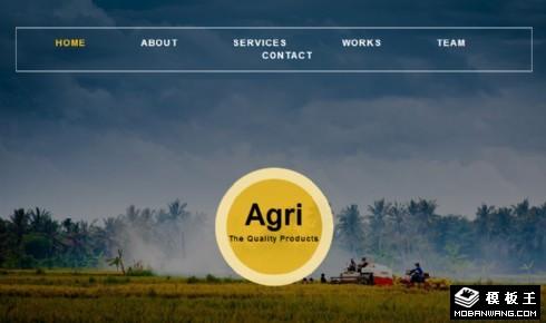 工业化农业响应式网页模板