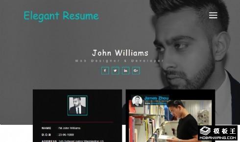 个人简历项目展示响应式网页模板