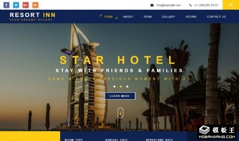 豪华度假酒店响应式网页模板