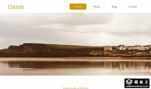 简洁经典故居展示响应式网页模板