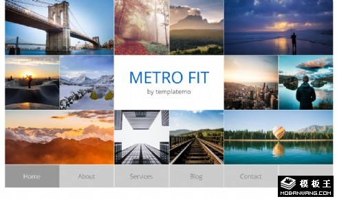 metro图片信息展示响应式网页模板