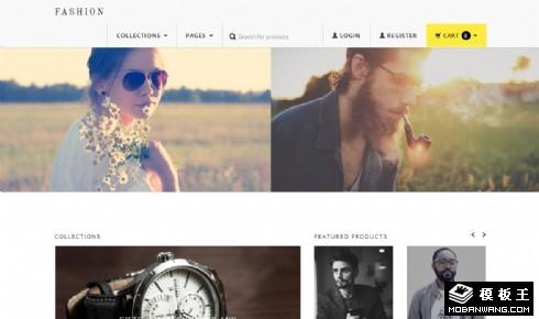 简约时尚品牌服饰商城响应式网站模板