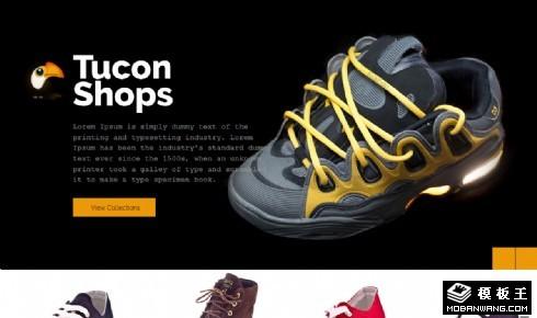 时尚潮鞋展示响应式网页模板