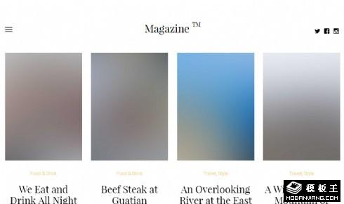 杂志列表展示响应式网页模板