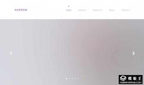 简约企业项目展示响应式网页模板