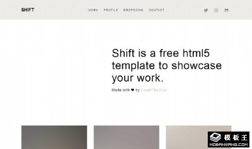 简洁工作室案例介绍响应式网站模板