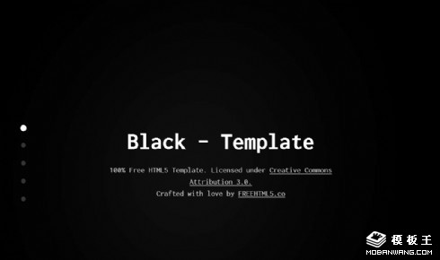 黑色产品介绍信息响应式网页模板