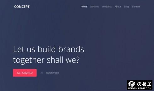 新创意产品动态响应式网站模板