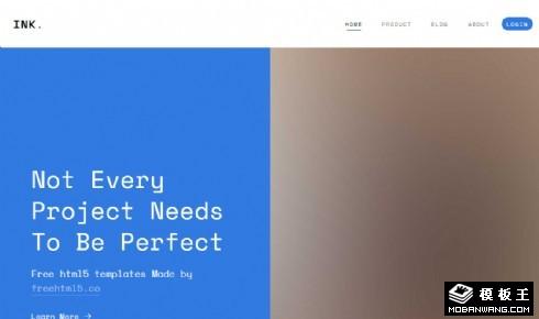 团队产品说明介绍响应式网站模板