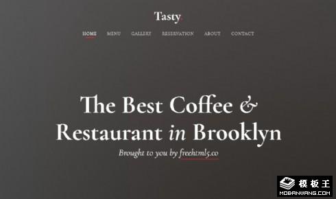 餐厅菜品系列展示响应式网站模板
