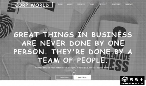 企业团队动态服务展示响应式网站模板