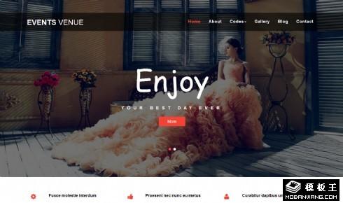 婚礼场景策划展示响应式网页模板