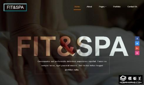 健身SPA响应式网站模板