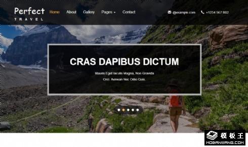 完美的旅行响应式网页模板