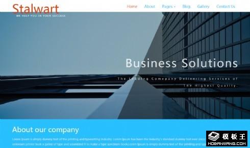 高级商务形象服务响应式网站模板