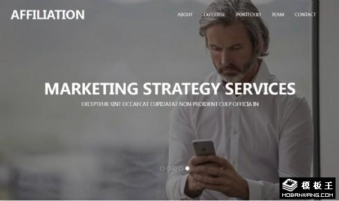 商务联络合作响应式网页模板
