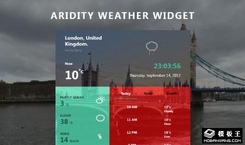 天气预报详情组件响应式网页模板