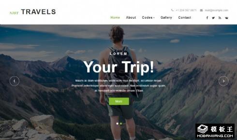 享受旅行服务信息响应式网站模板