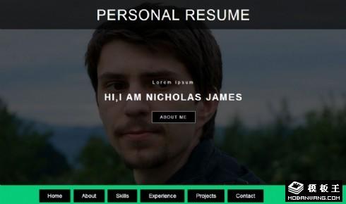 个人简历动态展示响应式网页模板