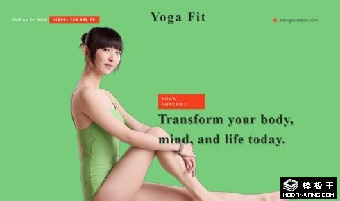 瑜伽健身机构展示响应式网页模板