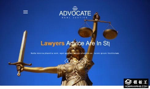 辩护律师服务响应式网页模板