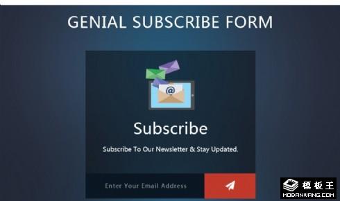 深蓝邮件订阅响应式网页模板