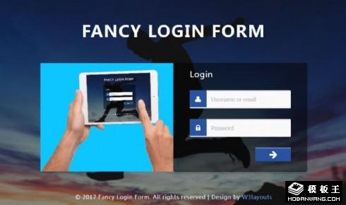 幻想登录框响应式网页模板