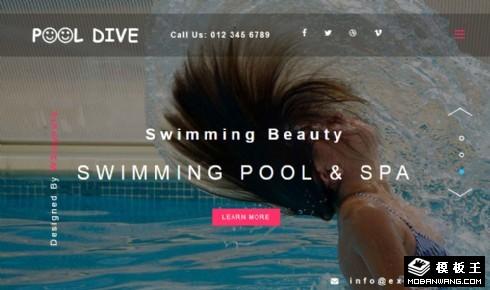 水上乐园游泳响应式网页模板