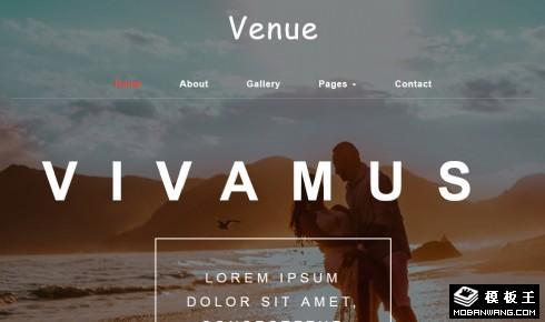 婚礼现场设计响应式网站模板