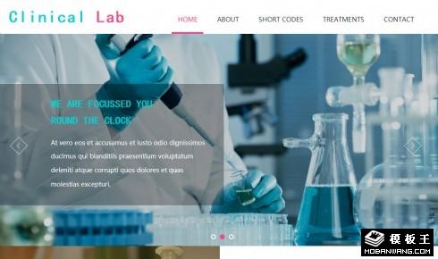 临床生物化学检验响应式网站模板