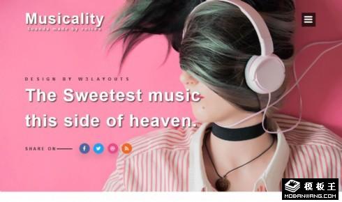 邪恶的声音音乐工作室响应式网页模板