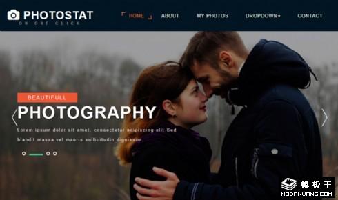 摄影服务动态响应式网页模板
