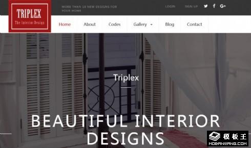 三维空间室内设计响应式网页模板