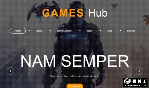 游戏技术研发响应式网页模板