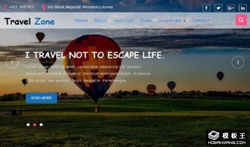 风景区旅游服务响应式网页模板