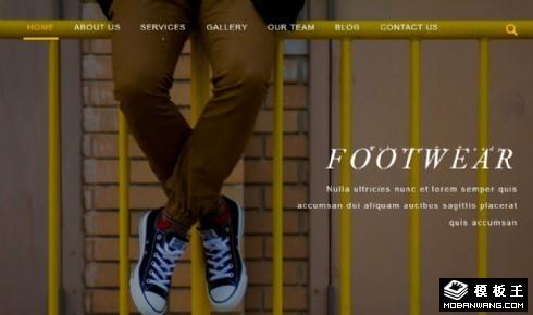 鞋品设计创意响应式网页模板