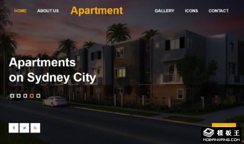 公寓出租服务响应式网页模板