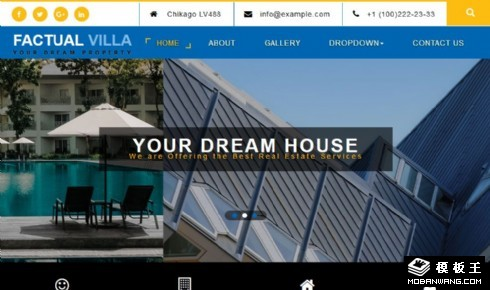 别墅展示租售响应式网页模板