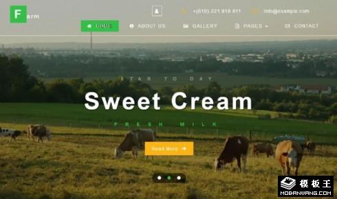 畜牧奶制品响应式网页模板