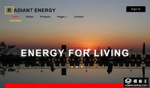 太阳能光伏工程响应式网站模板