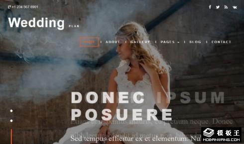 婚礼策划展示响应式网站模板