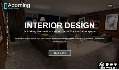 室内艺术装饰设计响应式网站模板