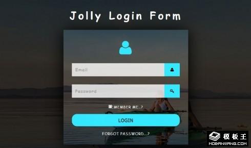 快乐休闲登录框响应式网页模板