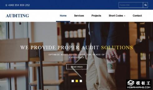 企业查账审计服务响应式网站模板