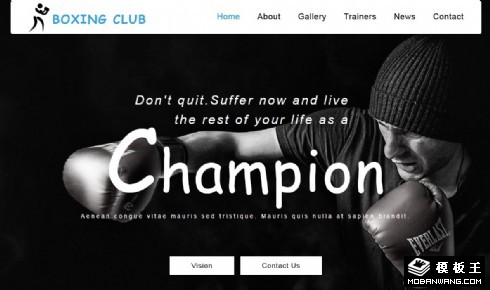 拳击赛事比赛响应式网页模板