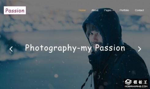 记录瞬间摄影响应式网站模板