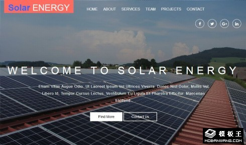 太阳能设备安装响应式网页模板