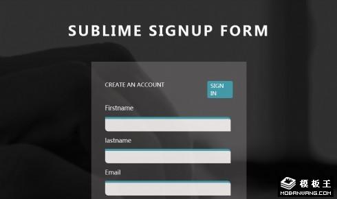 灰度登录框响应式网页模板