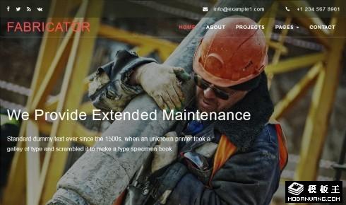 建筑施工团队响应式网站模板